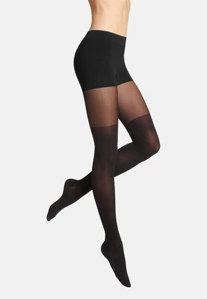TIGHTS HIGH LOW - Tights - black