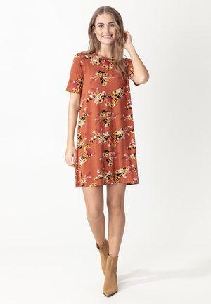 Jersey dress - rust