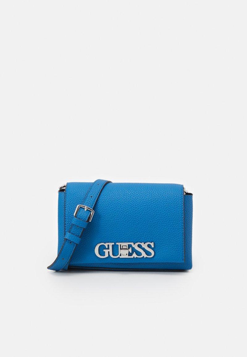 Guess - UPTOWN CHIC MINI XBODY FLAP - Across body bag - blue