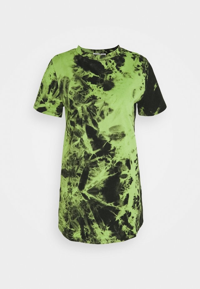 LADIES DRESS TIE DYE - Jerseyjurk - lime