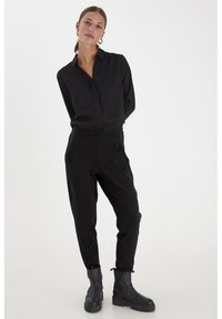 PULZ - PXVICTORIA SPECIAL FAIR OFFER - Trousers - black beauty - 1