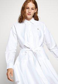 Polo Ralph Lauren - LONG SLEEVE CASUAL DRESS - Skjortekjole - white - 5