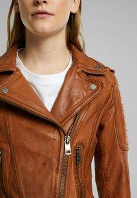 Esprit - Leather jacket - toffee - 4