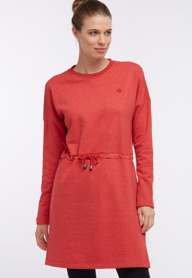 Vestito estivo - mottled dark red