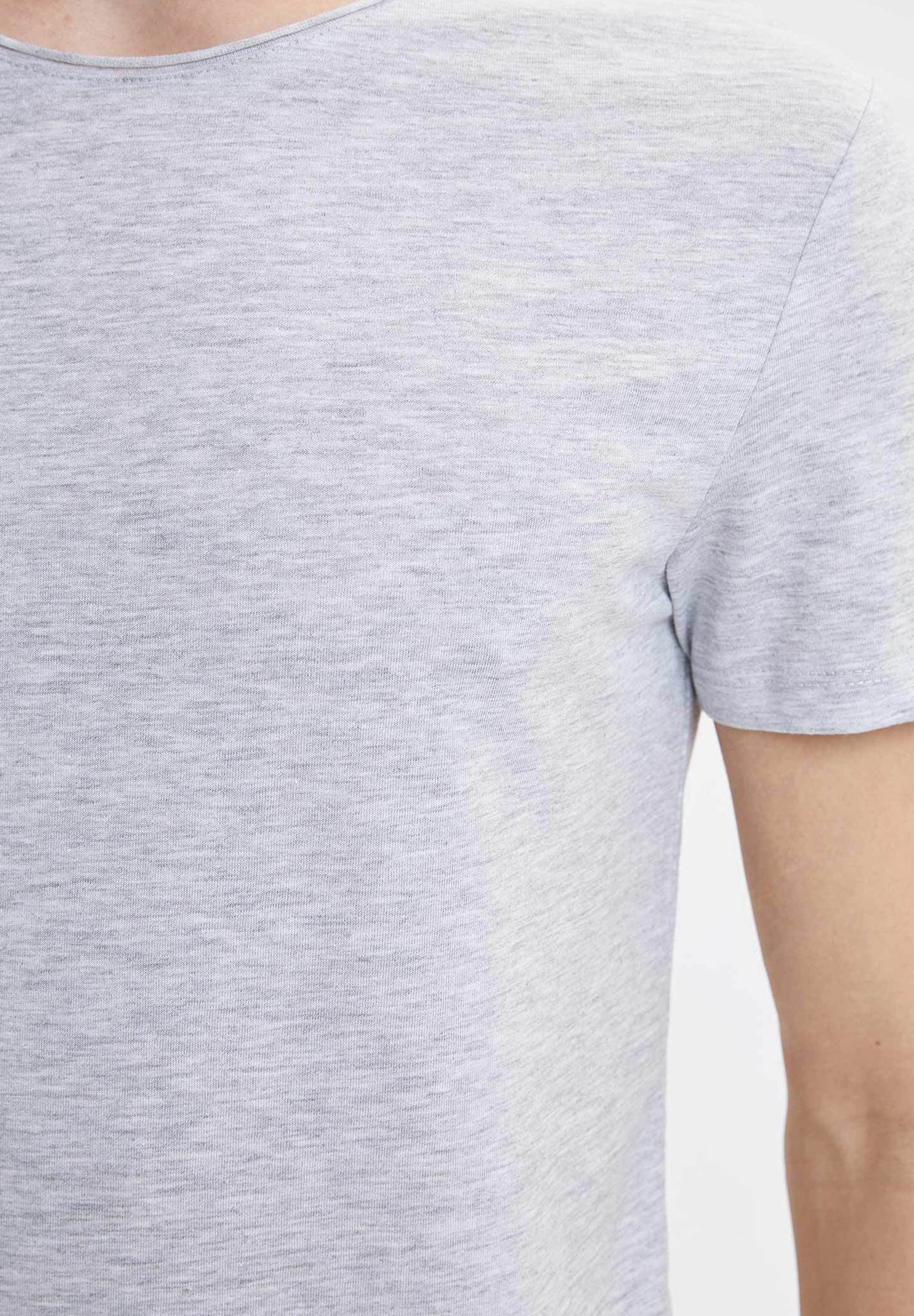 DeFacto Basic T-shirt - grey NWLA6