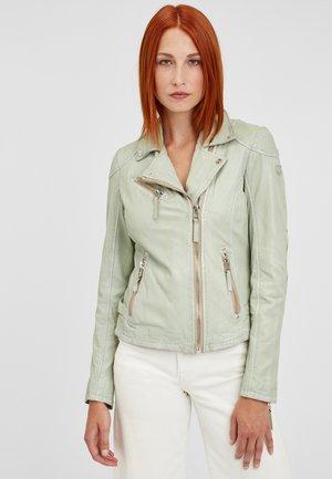 Leather jacket - aqua