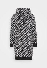 Calvin Klein Jeans - LOGO AOP OVERSIZED DRESS - Kjole - black/white - 4