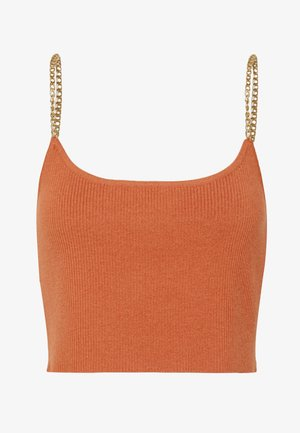 CHAIN SHOULDER - Top - salmon rose rust