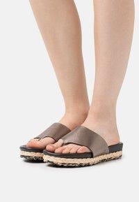 MAHONY - T-bar sandals - bronze - 0