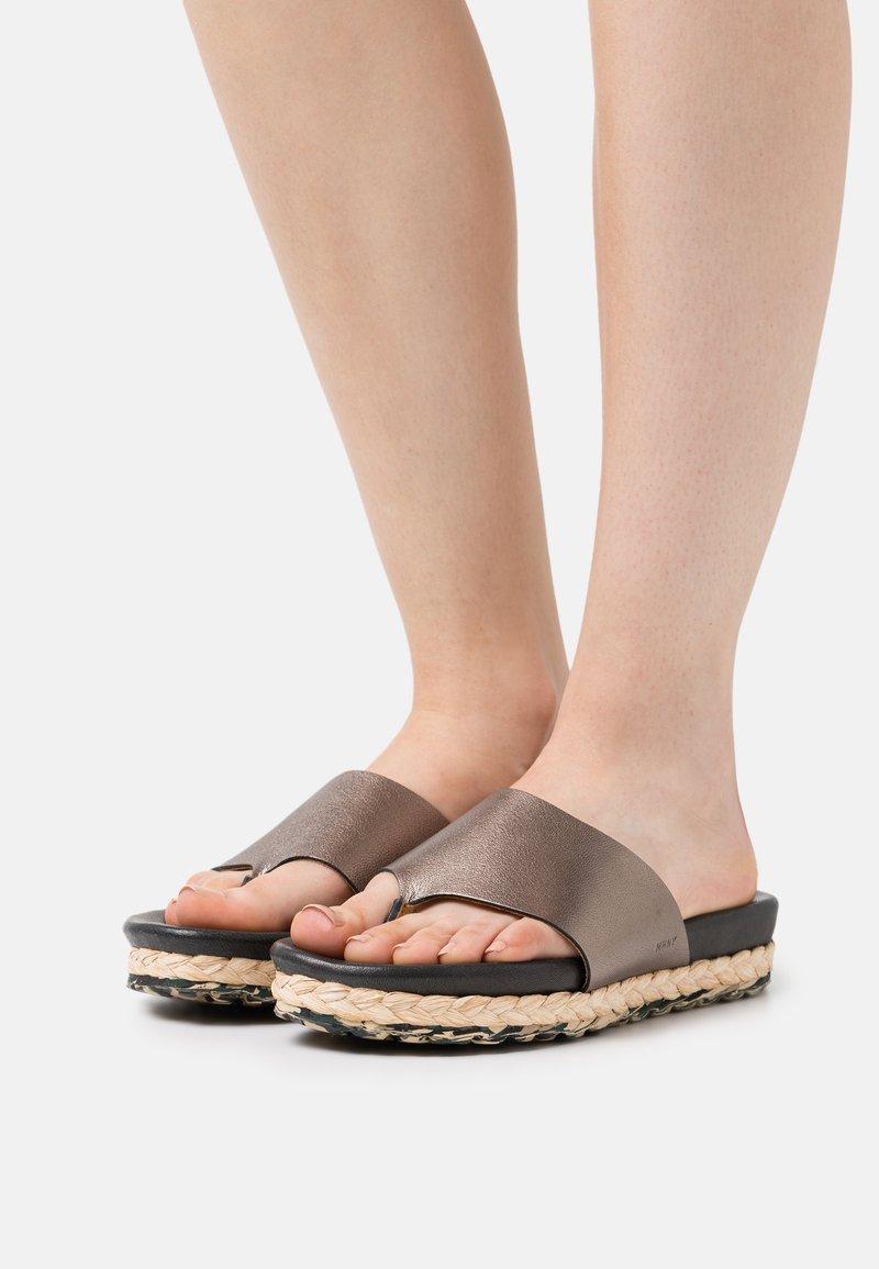 MAHONY - T-bar sandals - bronze