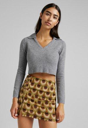 Mini skirt - brown