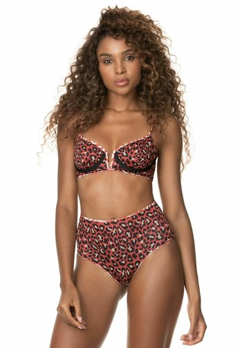 CINNAMON PLAINS VOILA - Haut de bikini - red