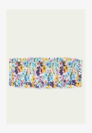 GESMOKTES COLOR FLOWERS - Bikinitoppe - stcolor flowers