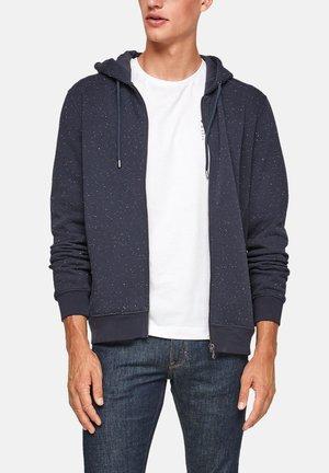 À EMPIÈCEMENTS CÔTELÉS - Zip-up sweatshirt - dark blue