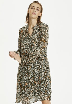 TEMPLEPW DR - Day dress - flower print, dark green