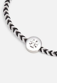 Tory Burch - KIRA BRAIDED BRACELET - Bracelet - silver-coloured/black/new ivory - 2