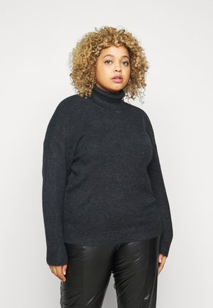 FINE JUMPER - Strikkegenser - black