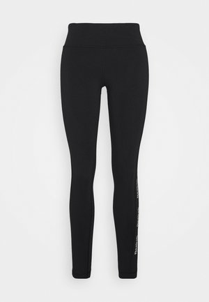 LINEAR LOGO - Tights - black/black