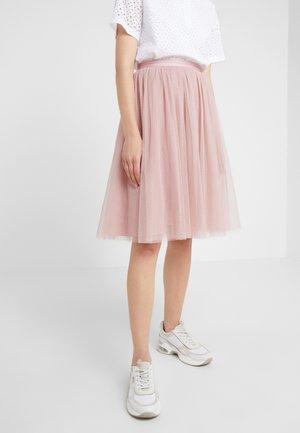 DOTTED MIDI SKIRT - Áčková sukně - iris pink