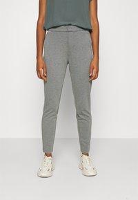 ONLY - ONLPOPTRASH LIFE STRIKE PANT - Trousers - medium grey melange - 0