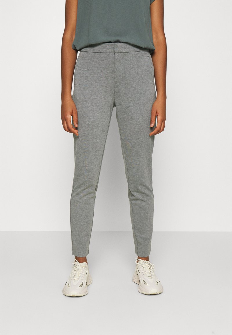 ONLY - ONLPOPTRASH LIFE STRIKE PANT - Trousers - medium grey melange
