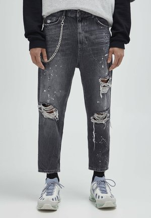 Jeansy Relaxed Fit - mottled dark grey