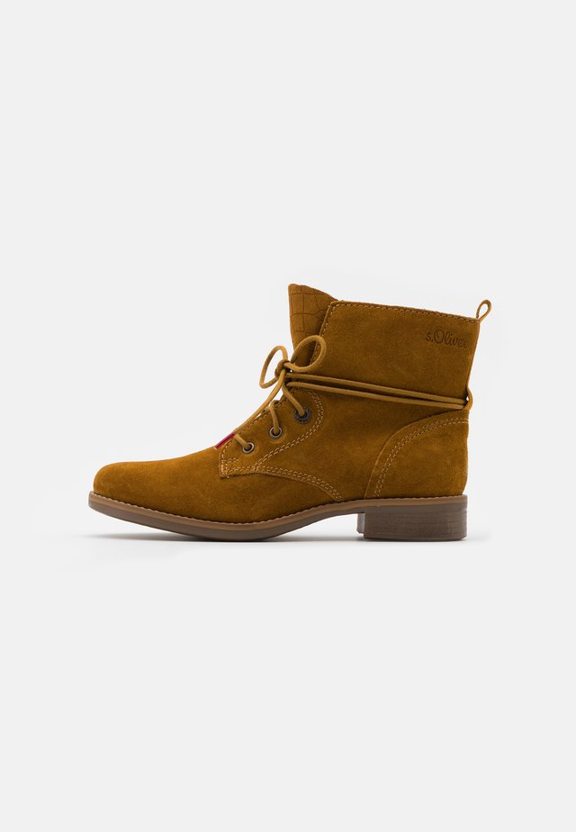 WOMS  - Lace-up ankle boots - mustard