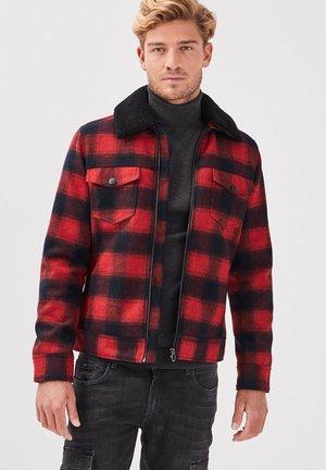 MIT FLIEGERKRAGEN - Light jacket - rouge foncé