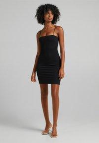 Bershka - Shift dress - black - 1