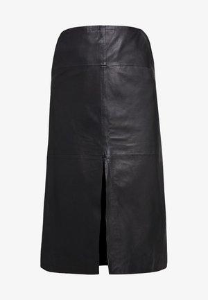 MARIE - Áčková sukně - black