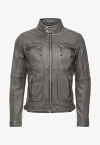 CASEY  - Leather jacket - anthracite