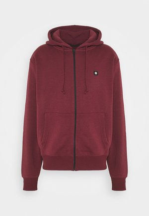 Zip-up hoodie - vintage red