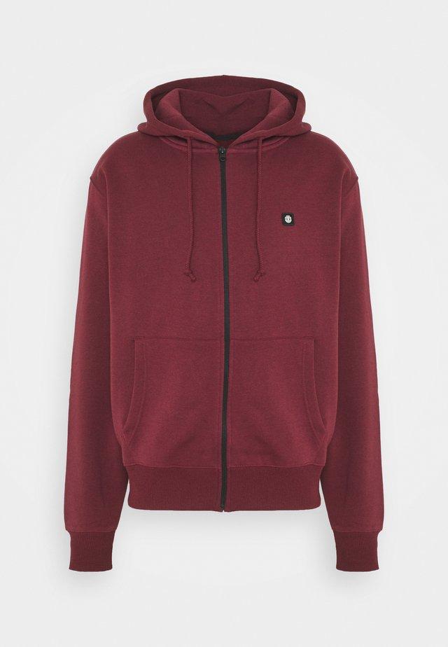 veste en sweat zippée - vintage red
