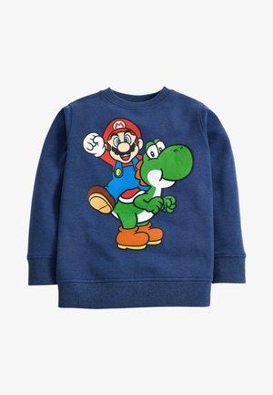 MARIO YOSHI CREW SWEAT TOP - Sweatshirt - blue