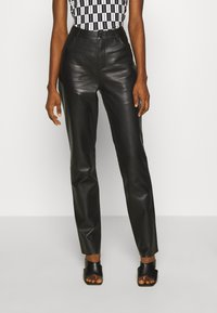 Freaky Nation - PANTS - Leather trousers - black - 0