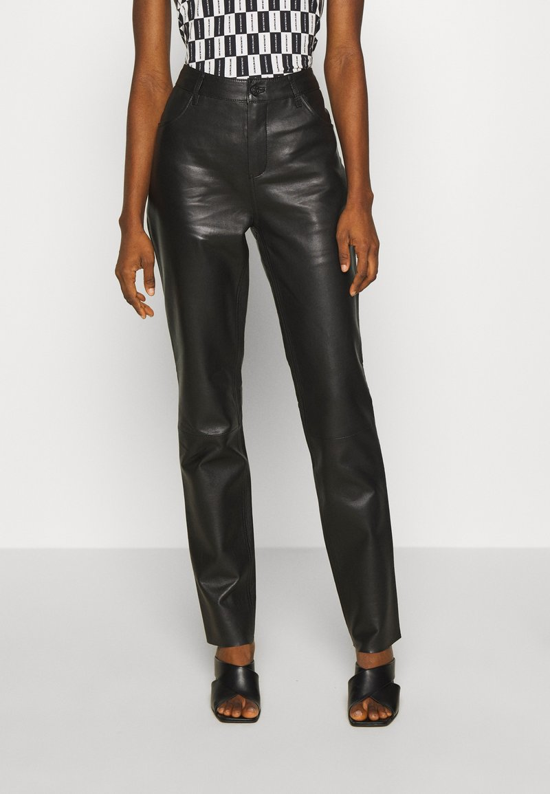 Freaky Nation - PANTS - Leather trousers - black
