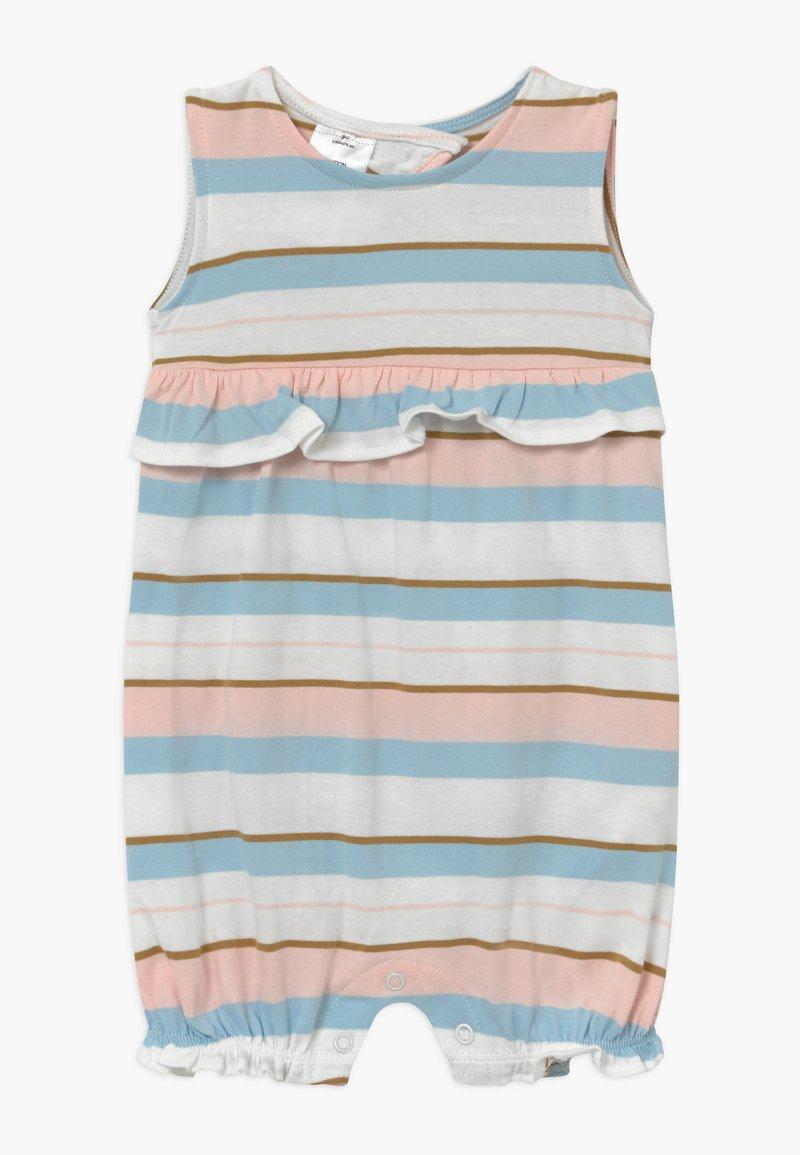 Carter's - STRIPE RUFFLE - Jumpsuit - white, light pink