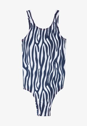 GIRLS SWIMSUIT - Kostium kąpielowy - white/black