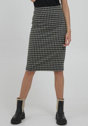 IHKATE CHECKY SK - Pouzdrová sukně - vetiver