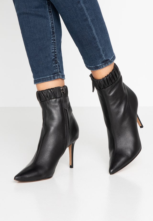 BENJAMIN - High heeled ankle boots - black