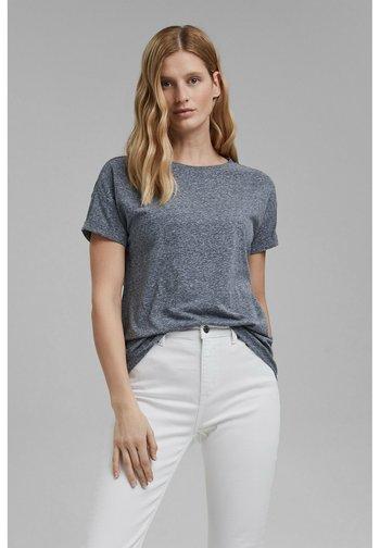 PER COO CLOUDY - Basic T-shirt - navy
