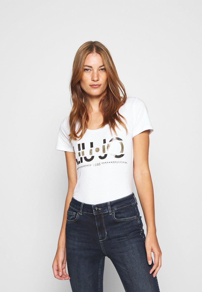 Liu Jo Jeans - MODA - T-shirt print - bianco ottico
