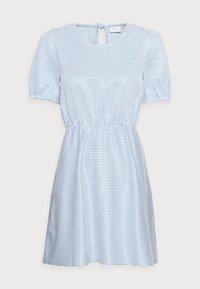 VILA PETITE - VIMILAC O-NECK DRESS - Day dress - cashmere blue/cloud dancer - 3