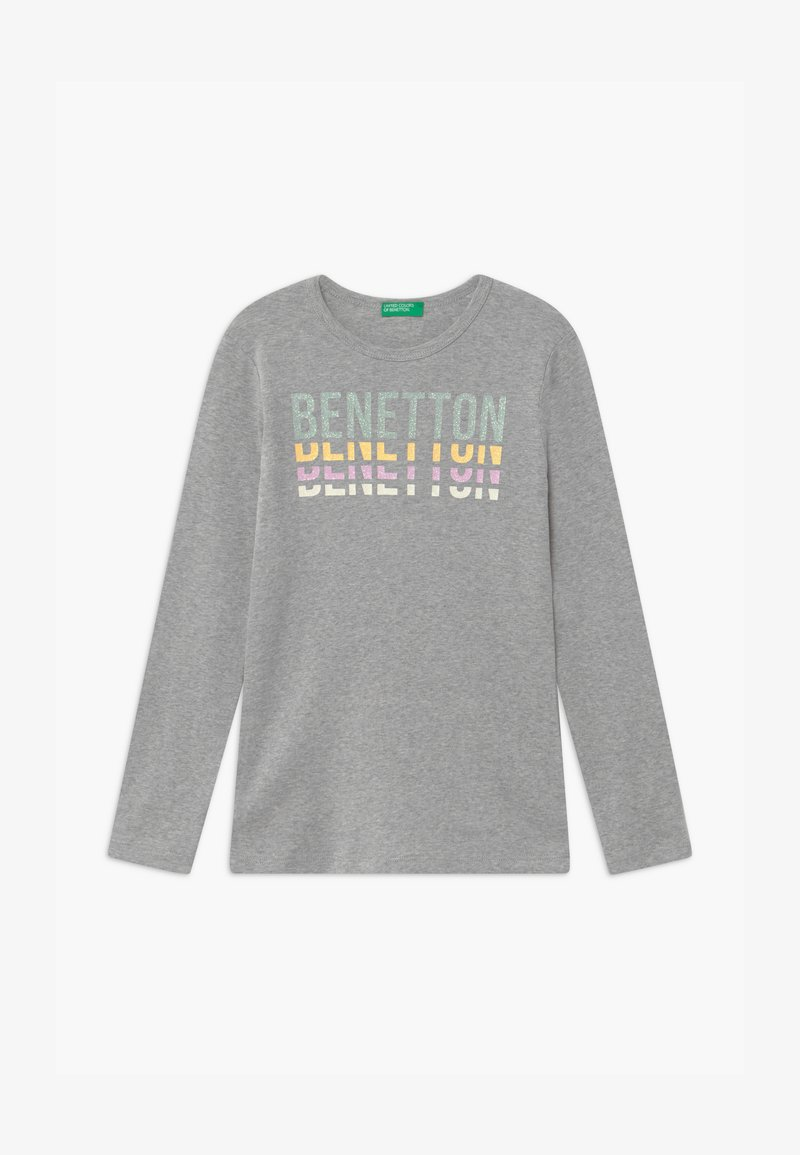 Benetton - BASIC GIRL - T-shirt à manches longues - light grey