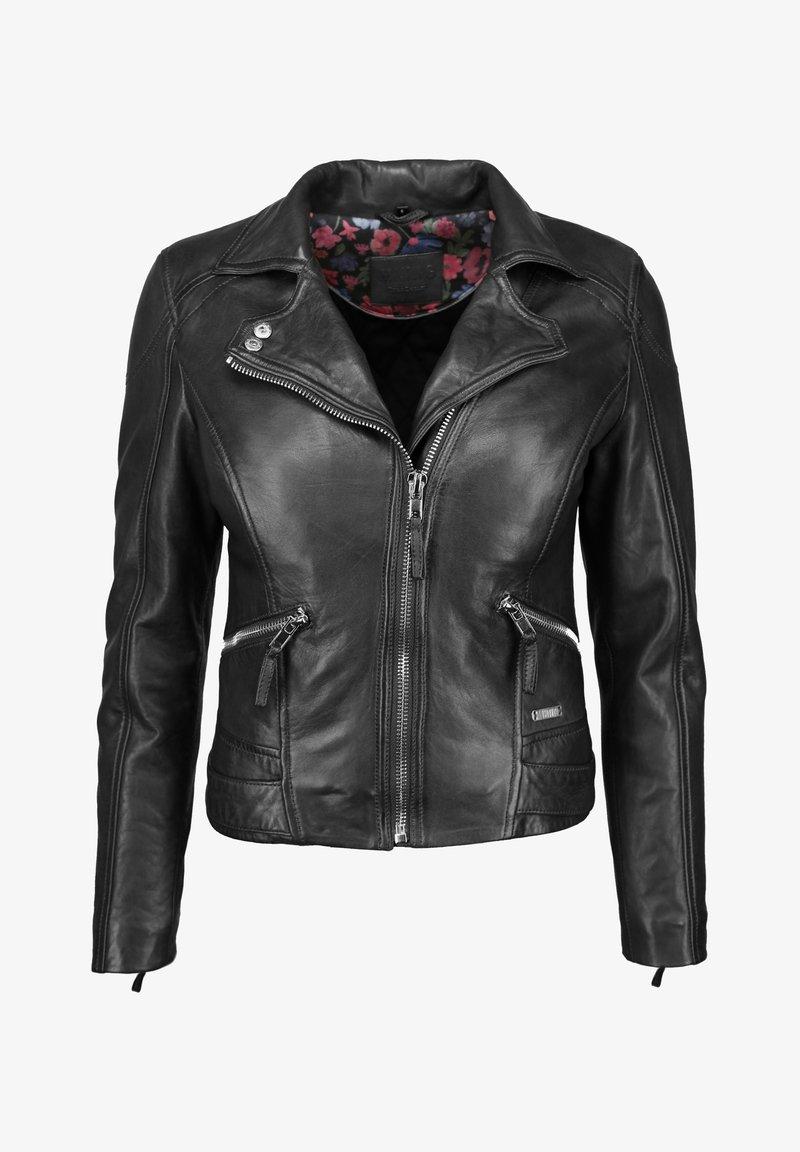 Mustang - MIT HEMDKRAGEN - Leren jas - black