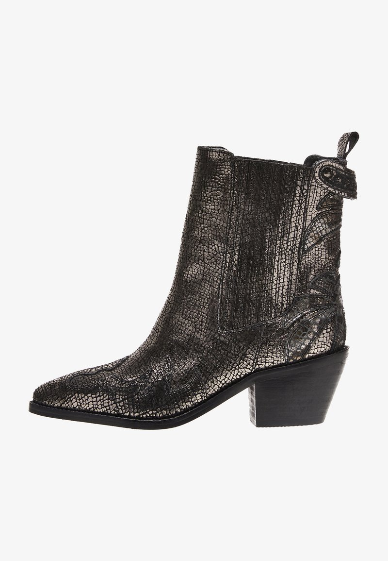 Pepe Jeans - WESTERN W PALM GLAM - Cowboy/biker ankle boot - chrom