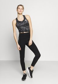 adidas Performance - BELIEVE THIS 2.0 LACE AEROREADY WORKOUT COMPRESSION 7/8 LEGGINGS - Tights - black/grey four - 1
