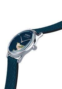 August Berg - UHR MORRIS & CO SILVER BIRD INDIGO PERLON 30MM - Watch - indigo - 2