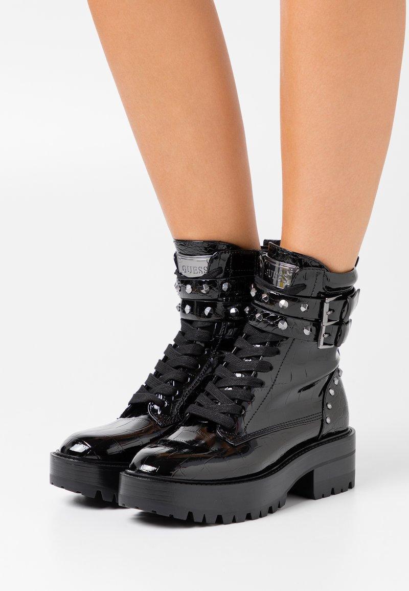 Guess - FLORICE - Cowboy/biker ankle boot - black