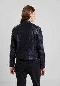 Gipsy - ANGY LAMAS - Leather jacket - dark navy - 4